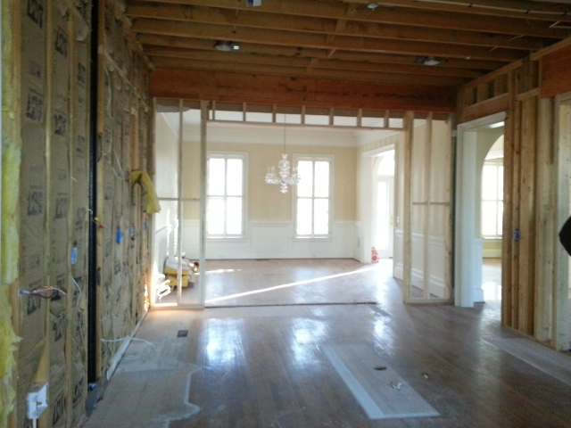 What once was the kitchen, is now a dance hall.